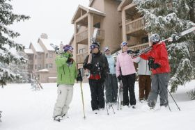 A group of friends at Holiday Valley.