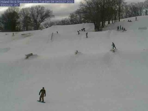 Snow webcam from Hyland Ski Resort