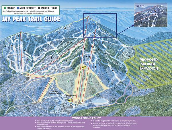 jay peak ski map