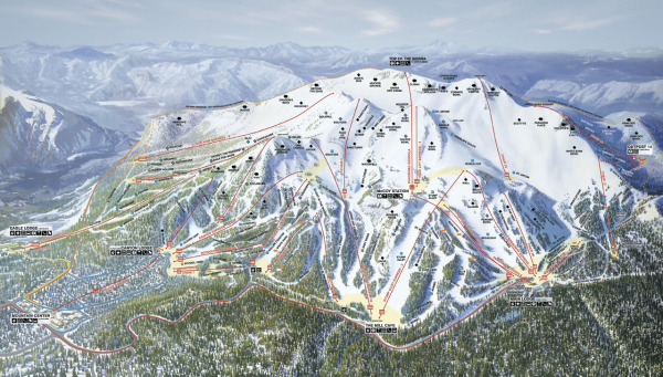 This Mammoth Mountain Ski Area Trail Map is interactive.